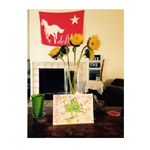 Feb 15, 2015 - My girlfriend Cassie got me some sunflowers to brighten my day after a Valentine's Day of doting on her :)