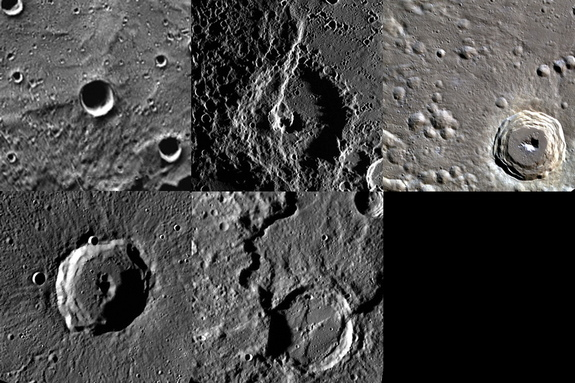 A composite of the the newly named Carolan Crater on Mercury.