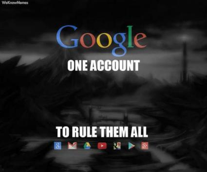 """Google Account meme that took from a popular quote from the """"Lord of the Rings"""" Trilogy."""